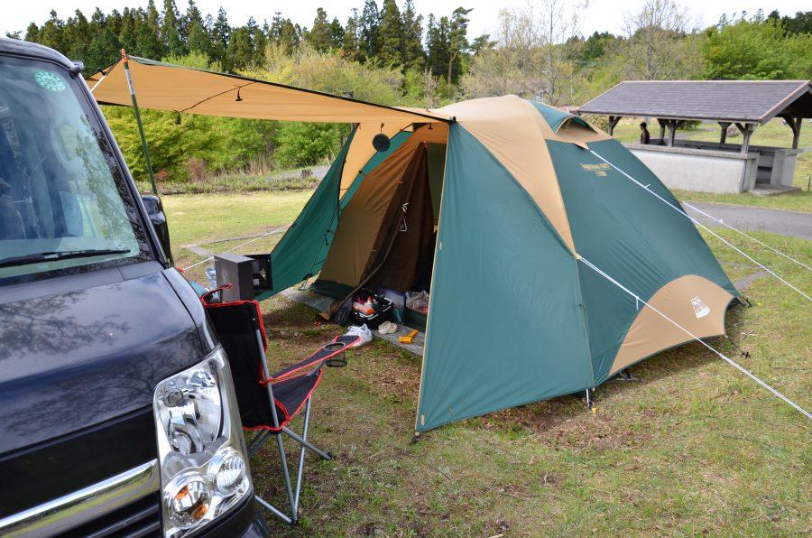 Coleman(コールマン) テント タフドーム/3025 グリーン  設営風景